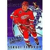 Sergei Fedorov Hockey Card 1992-93 Ultra Import #3 Sergei Fedorov