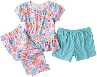 Carters Just One You Made By Baby Girls Toddler 3pc Pajamas Set