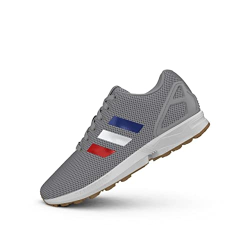 47136790549 Adidas ZX Flux Tenis para Hombre Grey Blue White Red Talla 26.5 ...