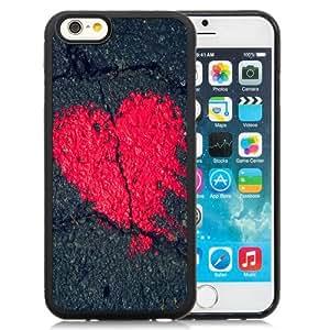 Beautiful Unique Designed iPhone 6 4.7 Inch TPU Phone Case With Heart Shape On Asphalt_Black Phone Case