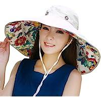 Packable Extra Large Brim Floppy Sun Hat Reversible UPF 50+ Beach Sun  Bucket Hat 1c1e01a95d