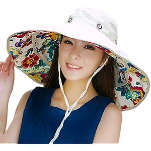 a290af6f Packable Extra Large Brim Floppy Sun Hat Reversible UPF 50+ Beach Sun  Bucket Hat