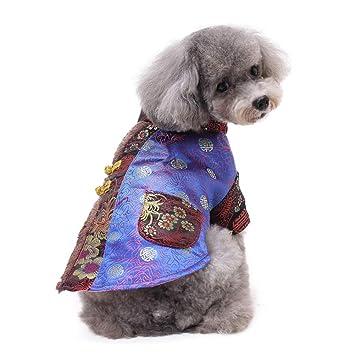 DJLOOKK Ropa para Perros Estilo Chino Ropa para Mascotas ...