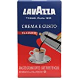 Lavazza Crema e Gusto Ground Coffee Blend, Espresso Dark Roast, 8.8-Ounce Bags (Pack of 4)