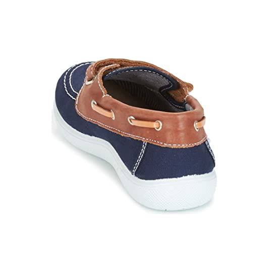 citrouille et compagnie GASCATO Mocassins /& Chaussures Bateau Garcons Marine//Marron Chaussures Bateau