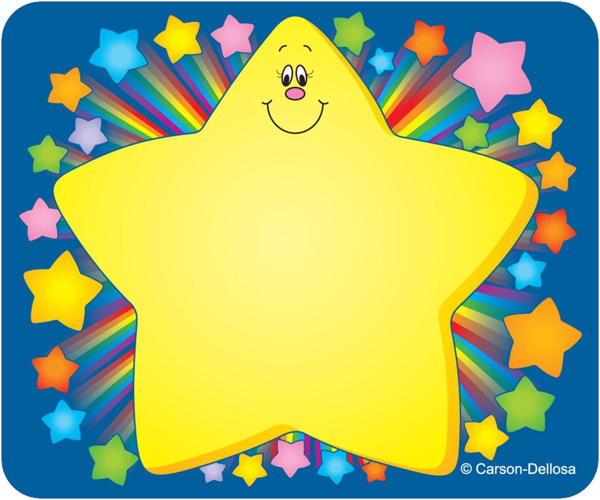 amazon com rainbow star name tags carson dellosa publishing