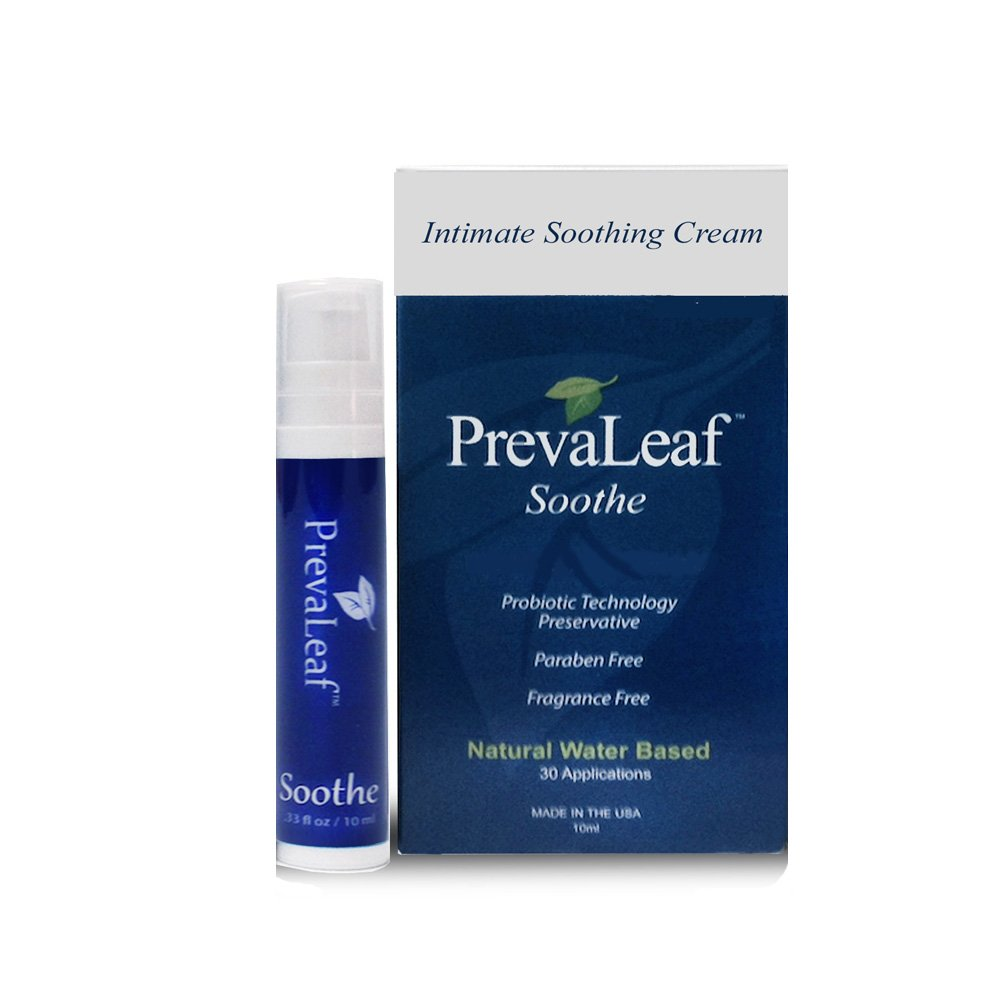 PrevaLeaf Soothe Natural Vaginal Soothing Cream gently eases your vaginal discomfort to help you feel like yourself again. (30 applications each)