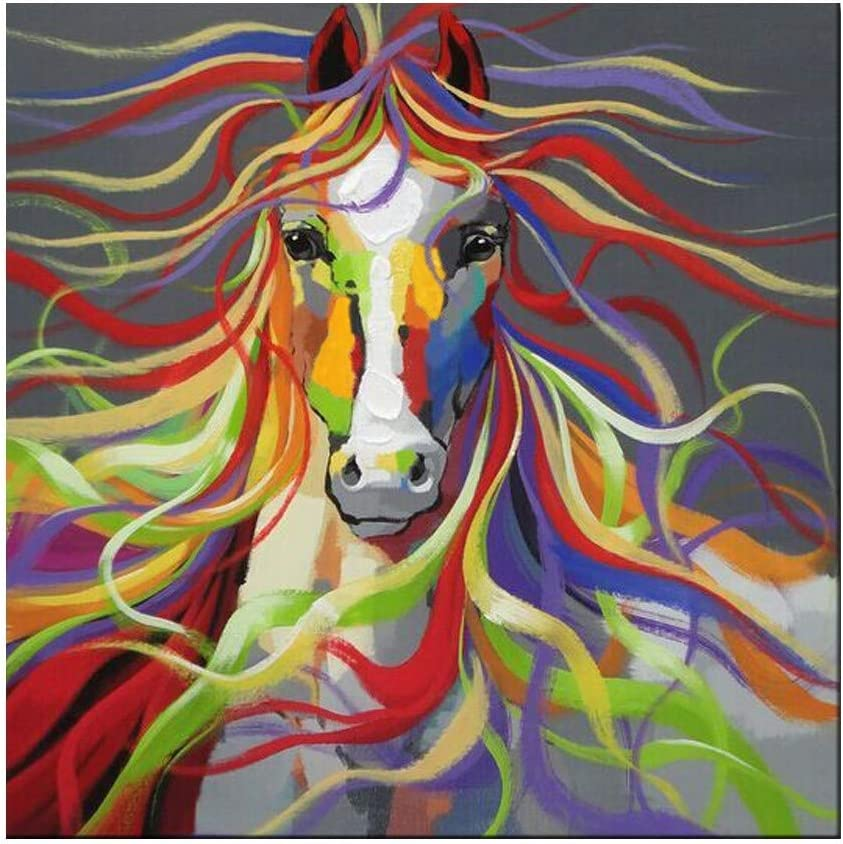Cheval Animaux Peinture Par Numeros Cadeau Fait Main Diy Abstraite Peinture A Lhuile Par Numero Toile Kits Animal Decor A La Maison Loisirs Creatifs Kits De Loisirs Creatifs