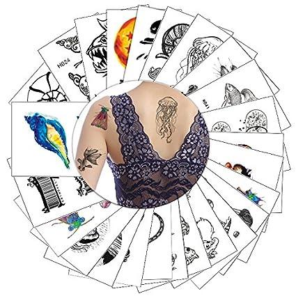Pegatina de tatuaje temporal, 25 hojas, pequeña, de papel, dibujos animados,