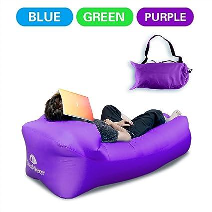 DasMeer Inflable sofá tumbona silla de compresión saco de dormir, camas de aire, portátil, ...