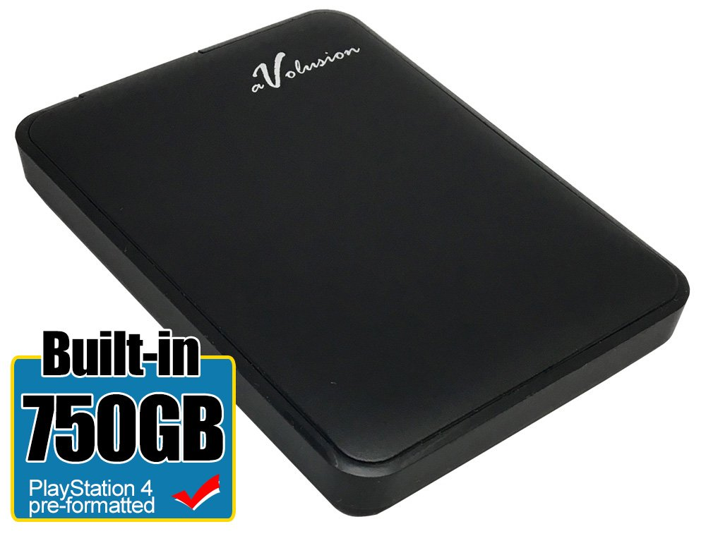 Avolusion 750GB USB 3.0 Portable External Hard Drive for PS4 Pro & Slim (PS4 Pre-Formatted) HD250U3-Z1 - w/2 Year Warranty by Avolusion (Image #1)