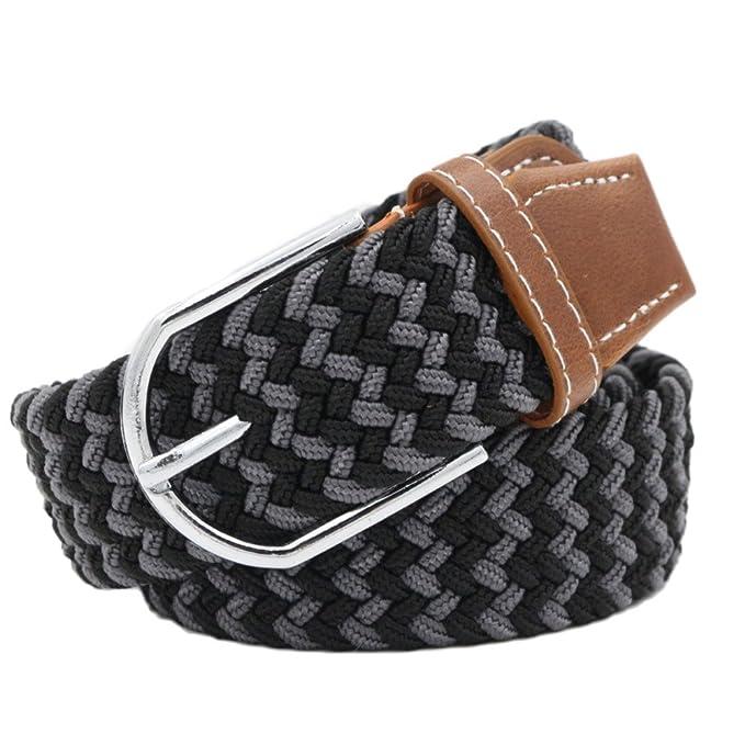 snfgoij Cinturones De Lona Para Hombres Cinturón Tejido Transpirable Cinturón  Tejido Unisex Cinturón Elástico Ocasional Cinturón Elástico Con Hebilla  ... 8affda61bf82