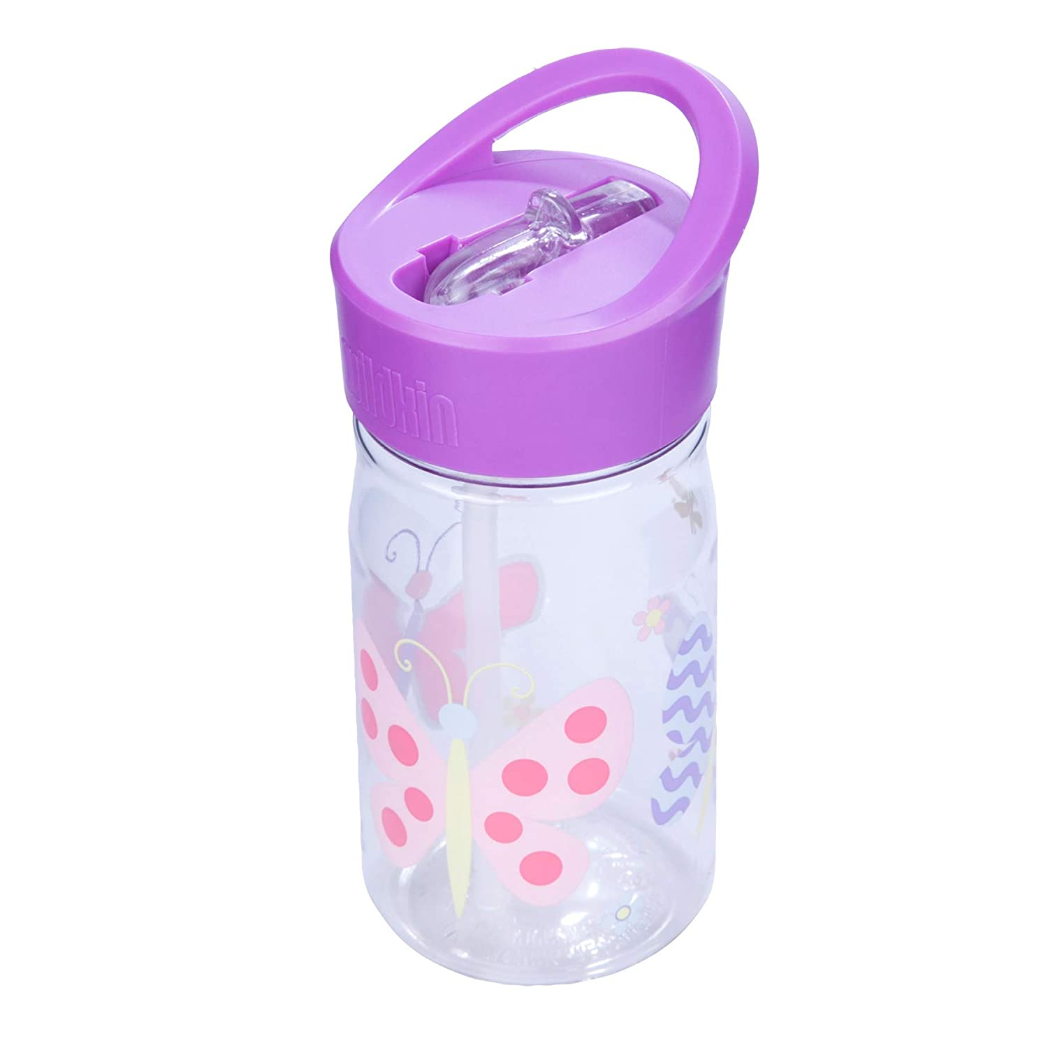 Olive Kids Design Features Flip-Top Straw and Top Carrying Handle Dinosaur Land BPA-Free Perfect for Promoting Hydration On-the-Go Wildkin 16oz Water Bottle