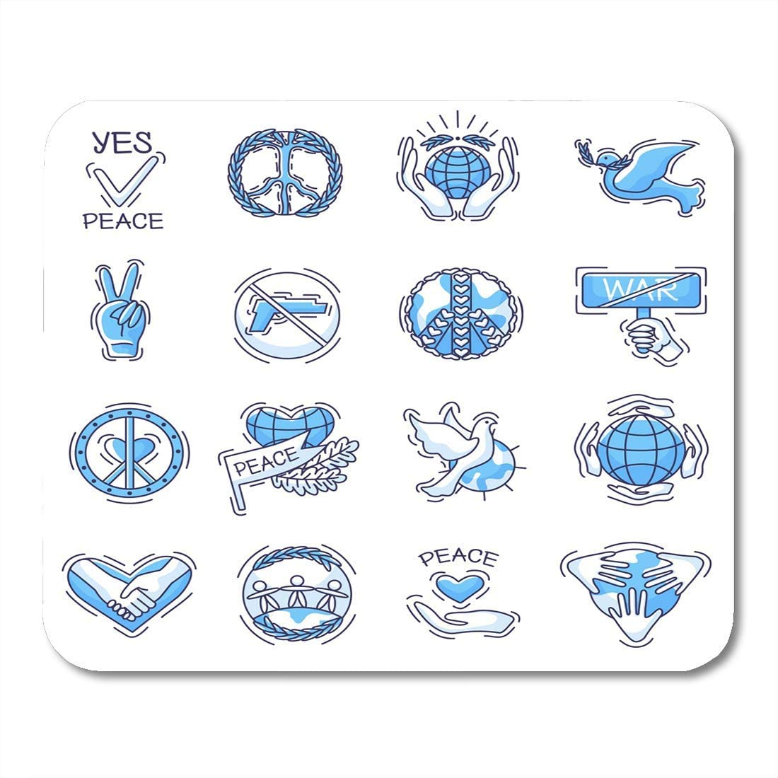 Almohadillas para ratón Símbolo pacífico de la Paz y el Amor ...