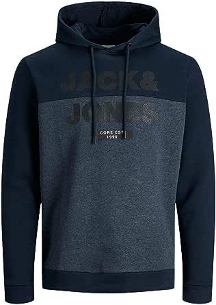 Jack & Jones Jjecorp Logo Noos - Sudadera con capucha para hombre