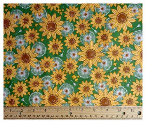 Autumn Sunflowers Cotton Fabric 42  Wide   3  Pre Cut Yards