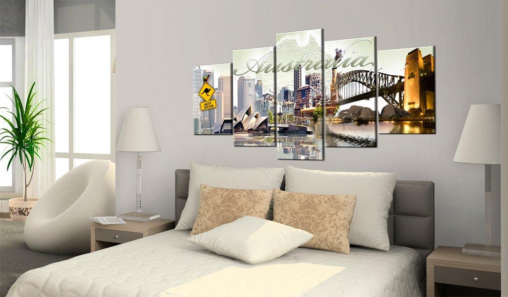 Murando - Bilder 200x100 cm Vlies Leinwandbild 5 tlg tlg tlg Kunstdruck modern Wandbilder XXL Wanddekoration Design Wand Bild - Australien 020113-276 76ee93