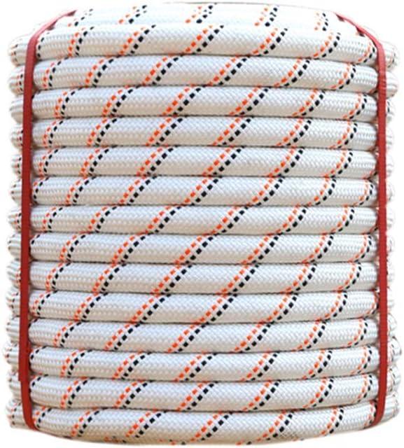 LIINA ロープ 高所作業ポリエステル安全ロープ、18ミリメートルダブル織りの耐久性に優れた耐食簡単操作ロングライフ-10m / 30メートル/ 50メートル/ 80メートル/ 100メートル (Size : 100m)  100m