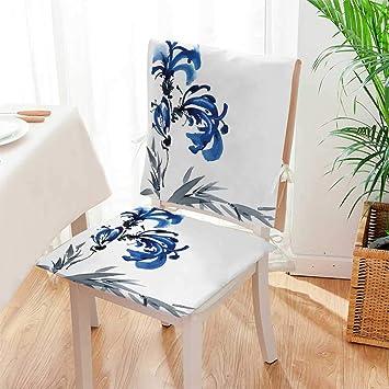 Amazon.com: Mikihome - Cojín de 2 piezas para silla, diseño ...