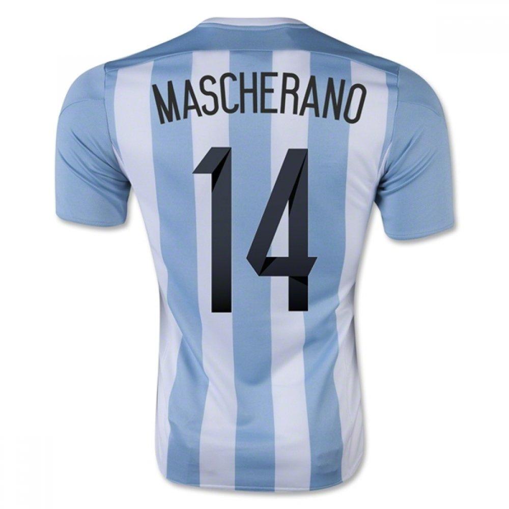 2015-16 Argentina Home Football Soccer T-Shirt Trikot (Javier Mascherano 14) - Kids