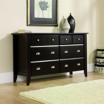 Amazon Sauder Shoal Creek Dresser Jamocha Wood Finish