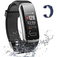 Salandens Smartwatch pulsera inteligente, pulsera impermeable para actividad física IP67 monitores de medición de…