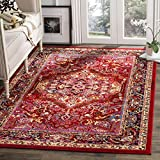 Safavieh Cherokee Collection CHR915F Red and Fuchsia Pink Area Rug (8' x 10')