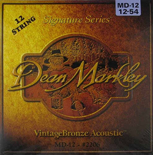 Dean Markley VintageBronze Signature Series Acoustic 12-String, 12-54, 2206, - Strings Guild Guitar