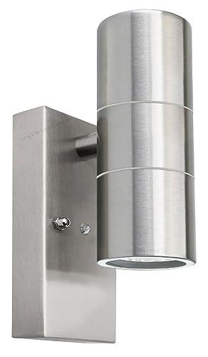 7w led bulkhead dusk to dawn sensor security light very bright 100w outdoor up down wall light dusk till dawn sensor stainless steel finish zlc0203dtd aloadofball Gallery