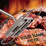 #8: Ian Enterprises BBQ Branding Iron with Changeable Letters Personalized Meat Barbecue Steak Names Press Tool Outdoor Grilling (Letters-Silver)