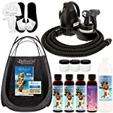 Belloccio Premium T75 Sunless HVLP Turbine Spray Tanning System; Simple Tan 4 Solution Variety Pack, Tent, Cups, Accessories & Video