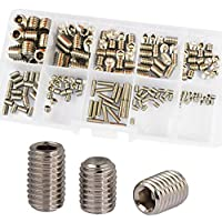 Set Grub Screw M3 M4 M5 M6 M8 Metric Hex Allen Socket Head Screw Assrotment Kit 200Pcs 304Stainless Steel by ALBERT GUY