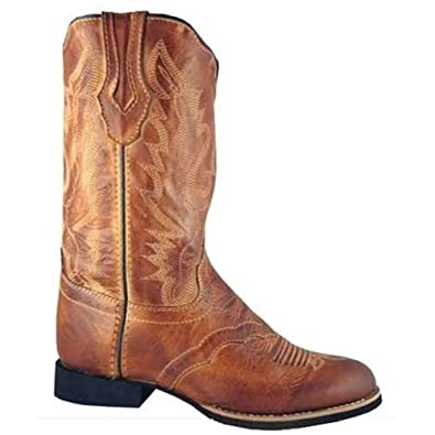 Bomber Tan Western Cowboy NEW CHILD/'S Smoky Mountain Boots Leather