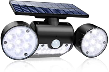 Most twin spot solar lights are long-lasting, thus reliable for overnight security of your home