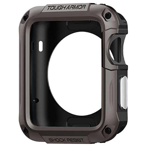 reputable site f63f2 c6f0b Spigen Tough Armor Designed for Apple Watch Case and Built in Screen  Protector for 42mm Series 1 (2015) - Gunmetal