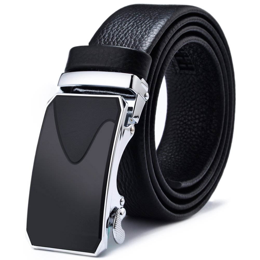 Men's Belt,[black Long bi Smart Casual Business Belt-A 140cm(55inch) by HOADOAOIFSA