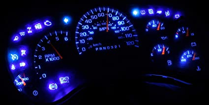 amazon com hercoo blue led light bulbs for instrument gauge cluster2006 Chevy Silverado Gauge Cluster #11