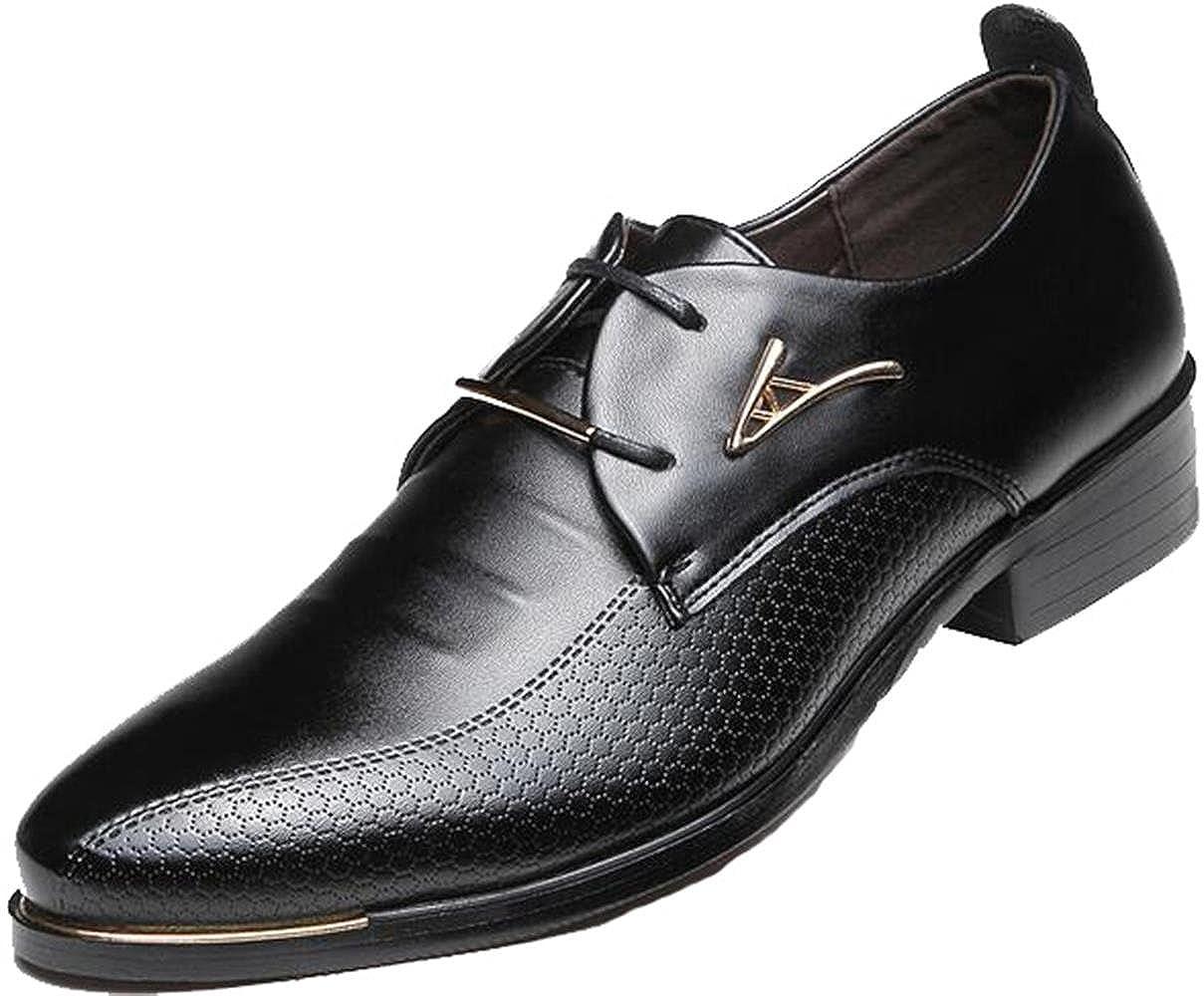 2809ec8f6fadd DADAWEN Men's Business British Pointed-Toe Oxford Shoes Four Seasons Dress  Shoes