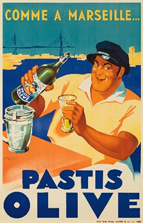 Pastis Olive Vintage Poster  Print on Paper or Canvas Giclee Poster