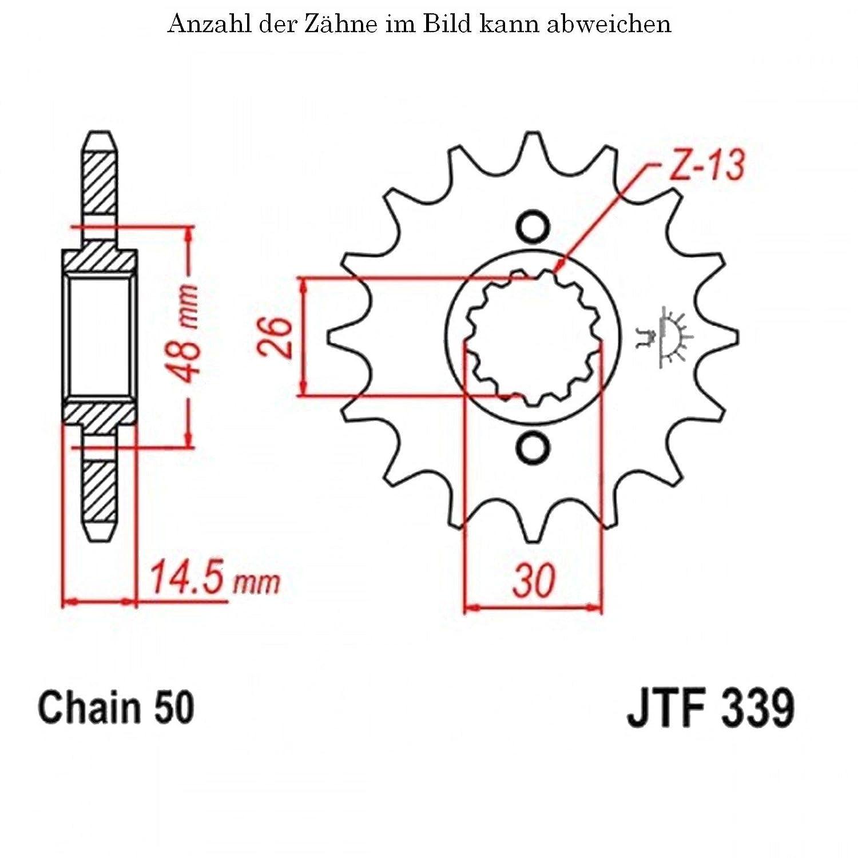 jt Sprockets Ritzel 18 Z/ähne CB 900 F Bol dOr 1979-1983 JTF339.18