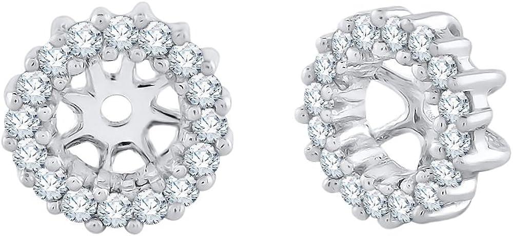 Chaquetas para pendientes de diamante en oro de 10 quilates (1/4 cttw, J-K, I2-I3)