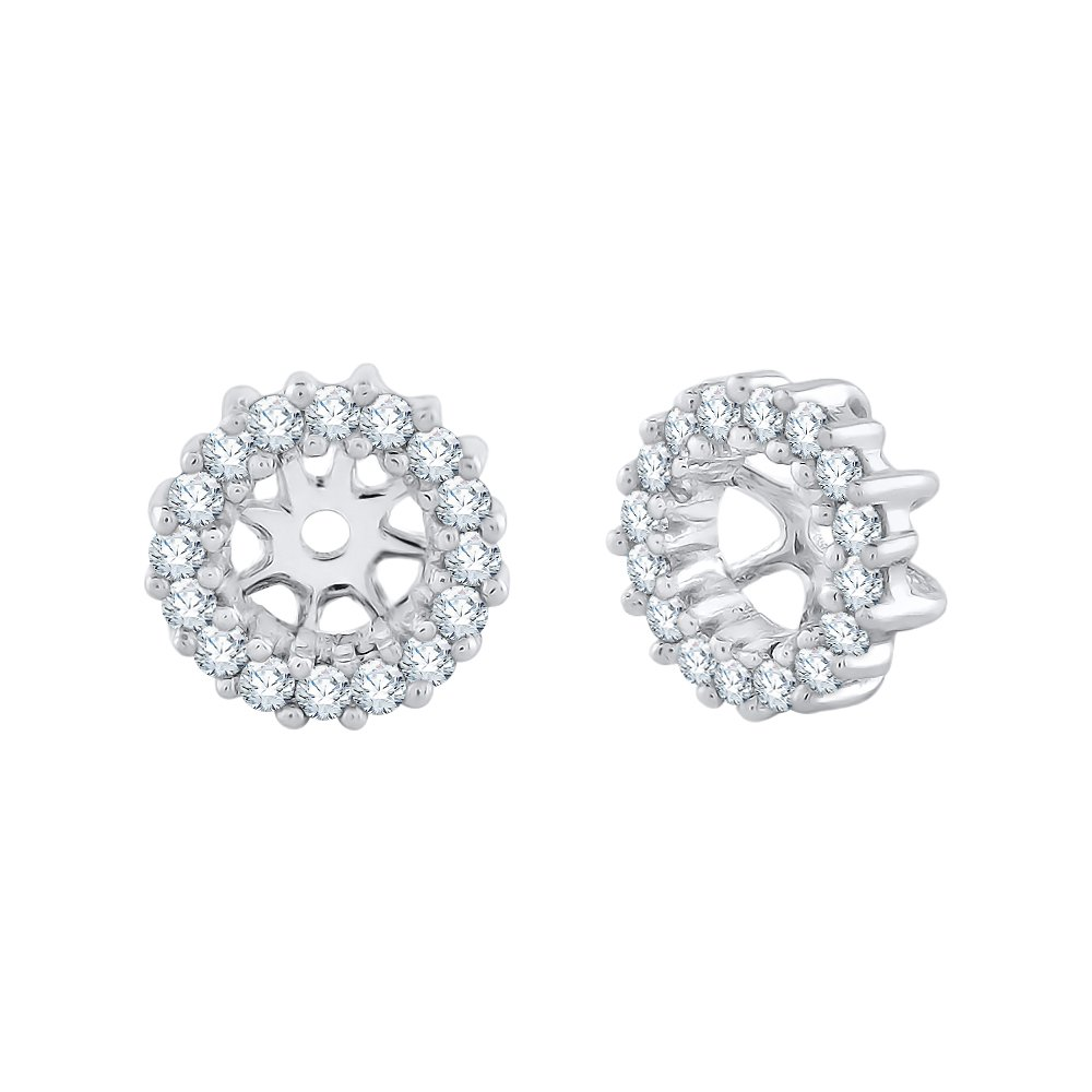 Diamond Earring Jackets in 14K White Gold (1/4 cttw) (Color JK, Clarity I1-I2)