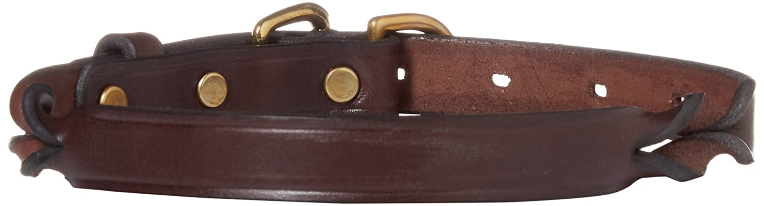 Perri's DC500 Twisted Leather Dog Collar, X-Small, Havana