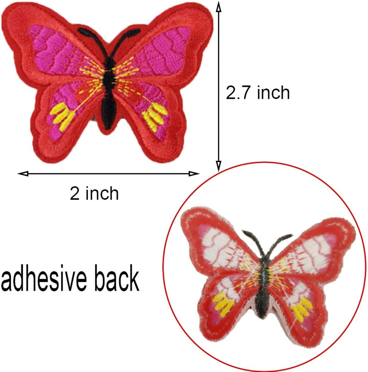 Artilife 20 Pcs Butterfly Patches Embroidered Iron On Patches Stickers for Jeans Jackets Repair Cloth Crafts for T Shirts Backpack Bags Clothes