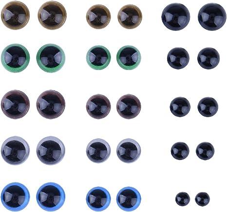 100pcs//bag Craft À faire soi-même Noir Ovale Ellipse Ovale poupée Sécurité Nez Yeux Teddy
