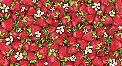 Toland Home Garden Strawberry Collage 20 x 38 Inch Decorative Red Summer Fruit Anti Fatigue Comfort Mat