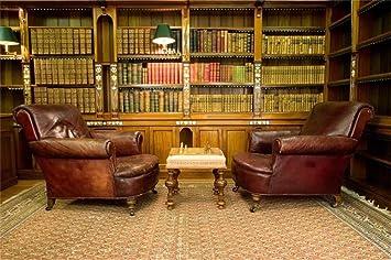 Amazon Com Aofoto 8x6ft Vintage Luxury Study Bookshelf Backdrop
