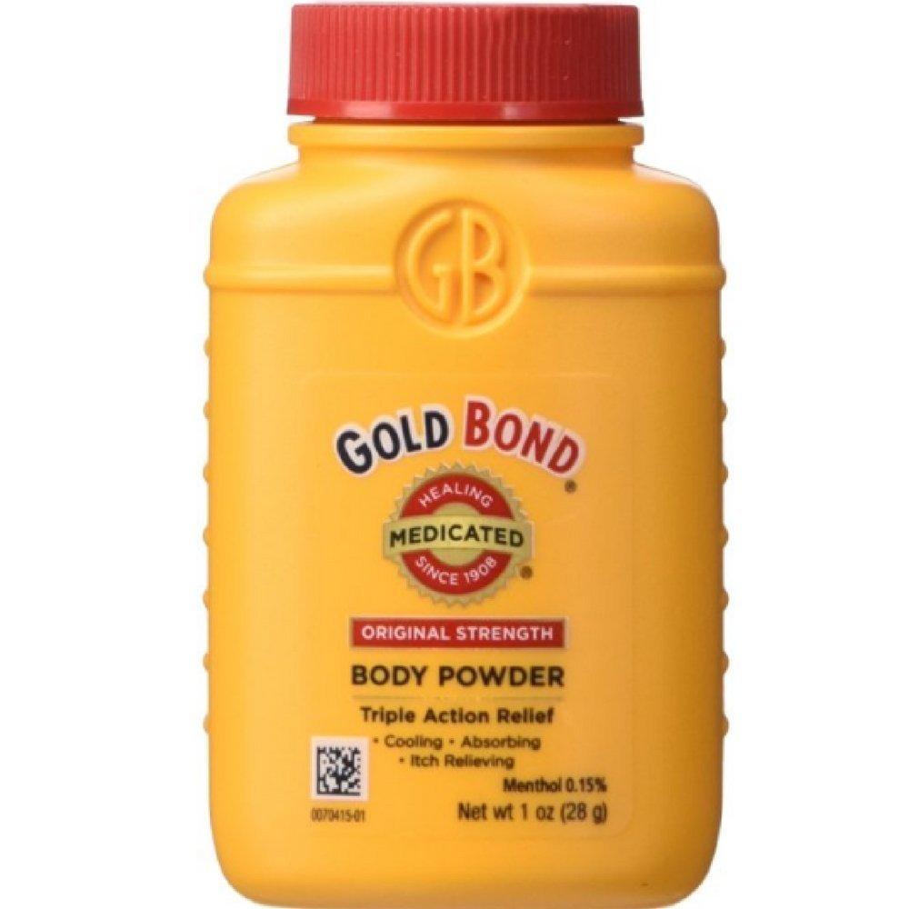 Gold Bond Medicated Body Pwoder 1oz travel Size TSA Compliant (Pack of 6) Plus One Free Pantene Pro-V Deep Fortifying Hair Treatment 1.7oz Tube