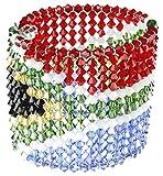 Karen Curtis Swarovski Crystal South Africa Flag Cuff Bracelet