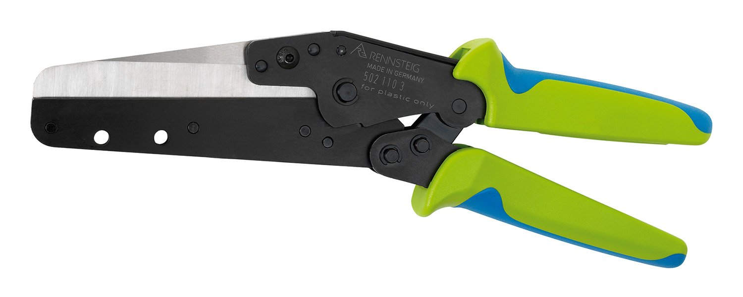 Rennsteig Wiring Duct Cutter for Plastic Panels, Baseboards and Cable Ducts - Up to 4 1/2-inch Depth (without Support)